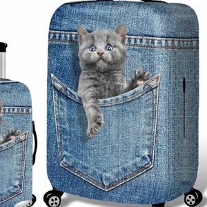 Luggage Cover Cute Cat, Size XL. 32 Inch